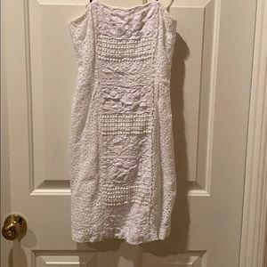 Eyelet strapless dress